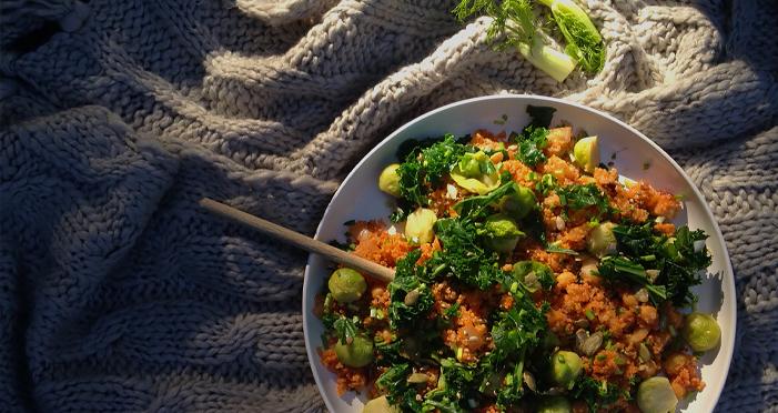 Pieprzna komosa ryżowa z fenkułem w Dzień Zakochanych